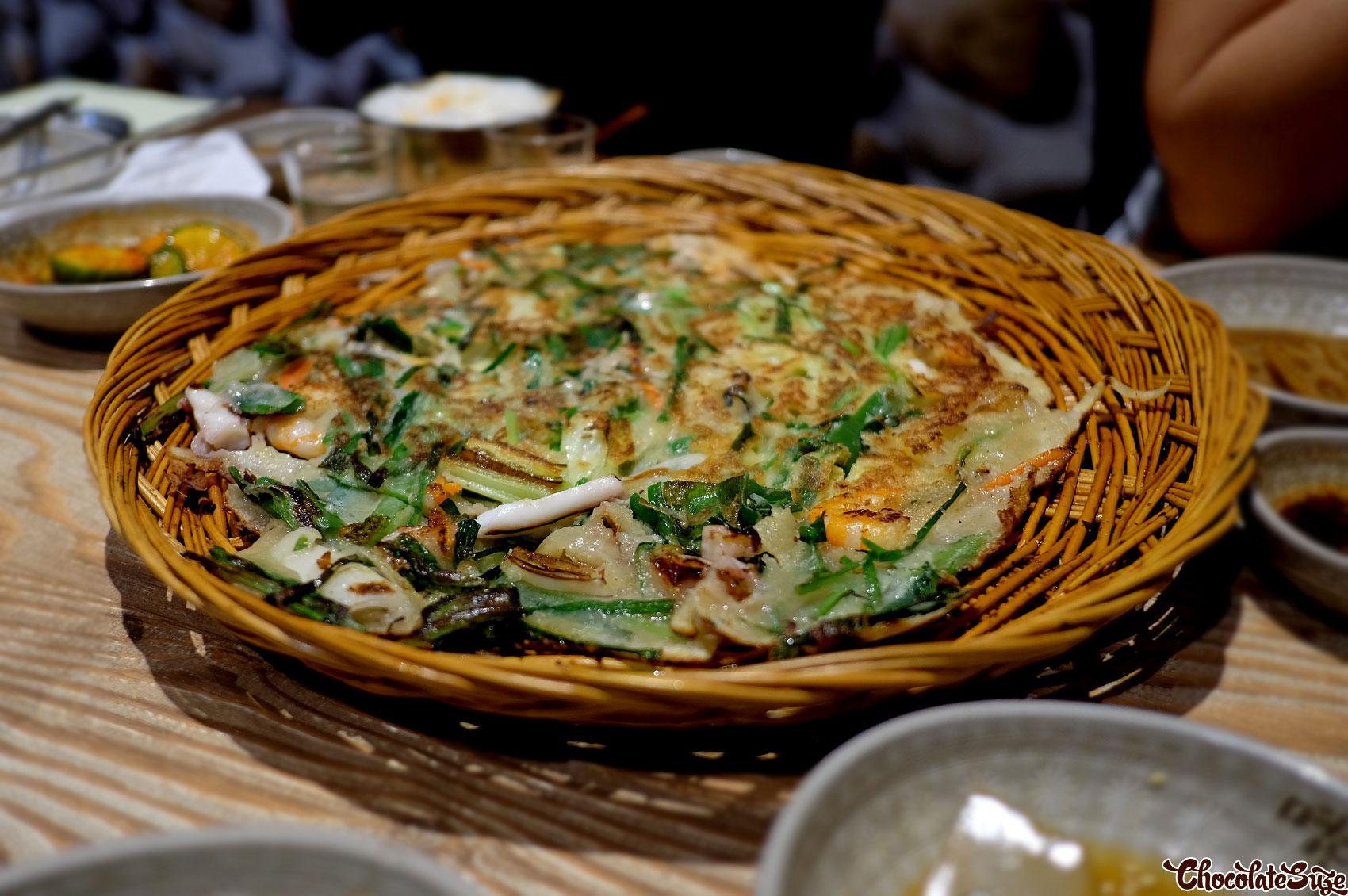 Seafood pancake at Myeongdong Korean Restaurant, Strathfield