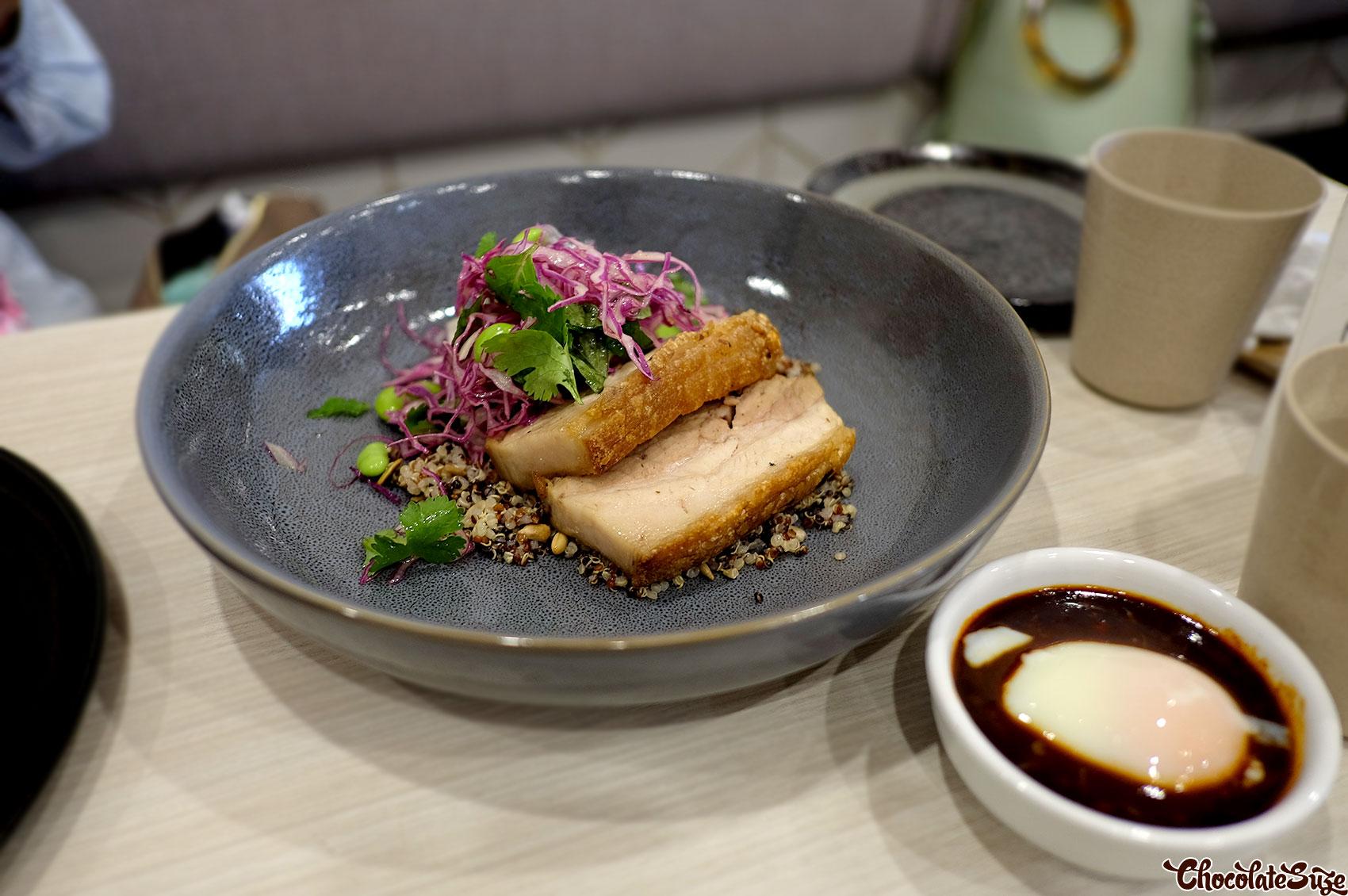 Pork belly at Koku Culture Cafe, Ashfield