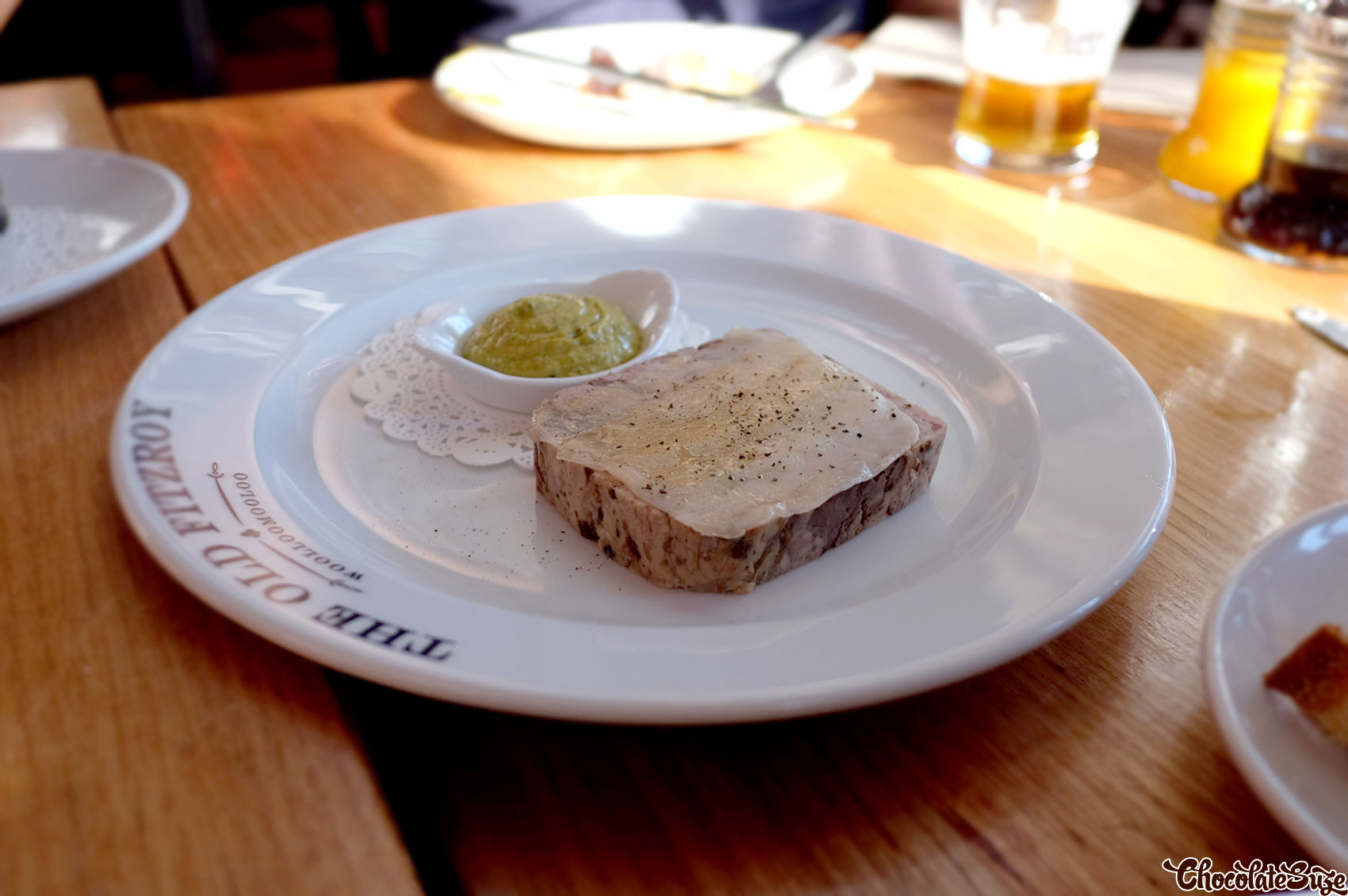 Chicken and lardo terrine at The Old Fitzroy Hotel, Woolloomooloo