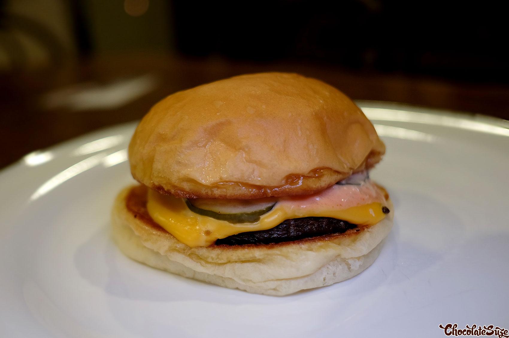 Mushroom burger at Bush, Redfern