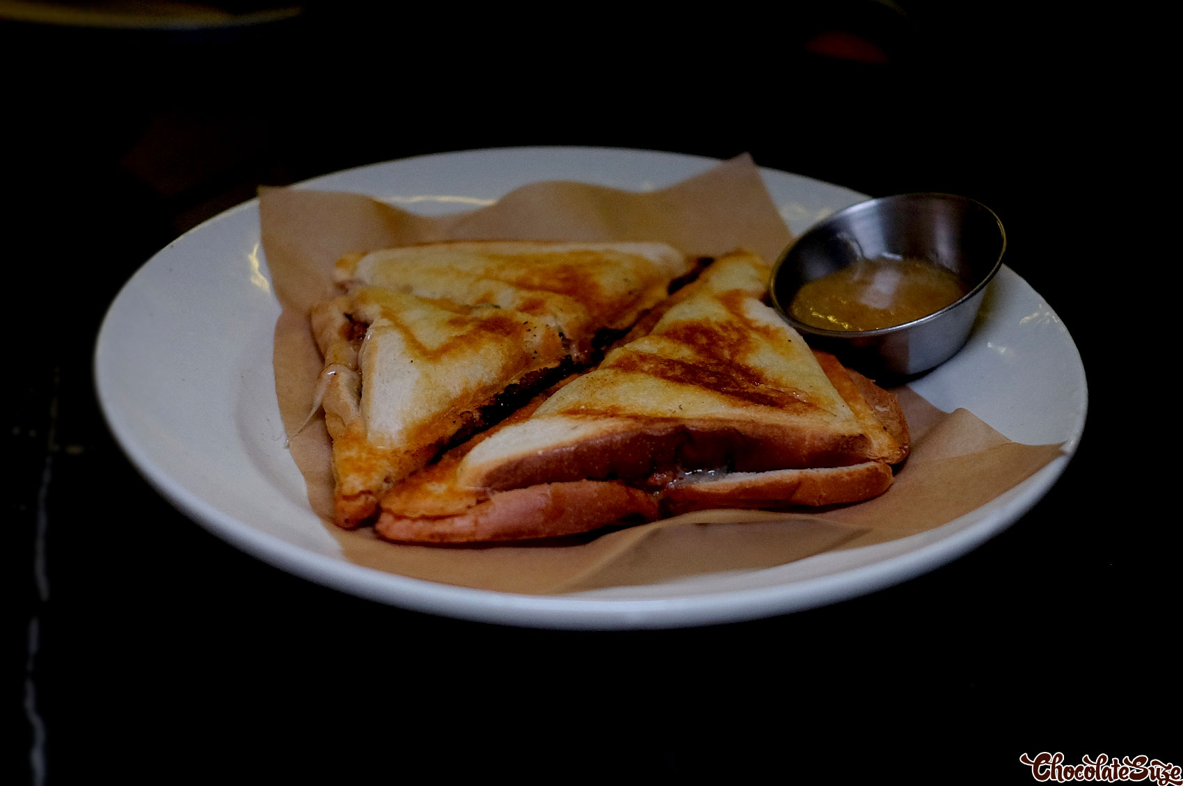 Spicy pork jaffle at Soul Dining, Surry Hills