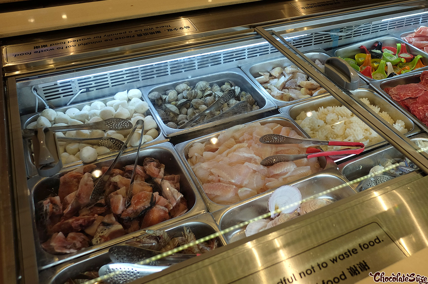Seafood station, Legend Hot Pot buffet, Burwood
