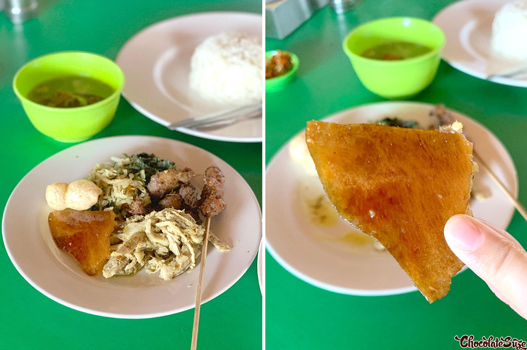 Babi guling at Warung Nasi Babi Guling Men Agus
