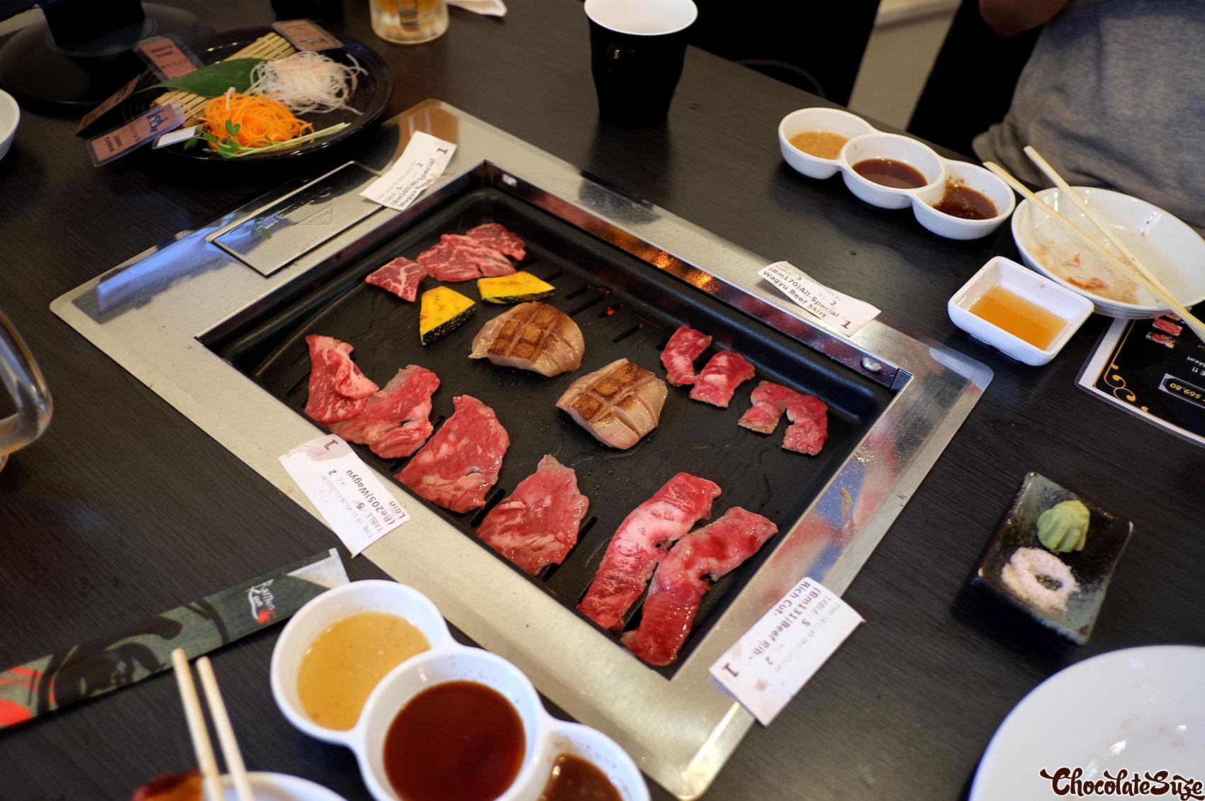 Wagyu on grill at Matsusaka Backstreet, Haymarket