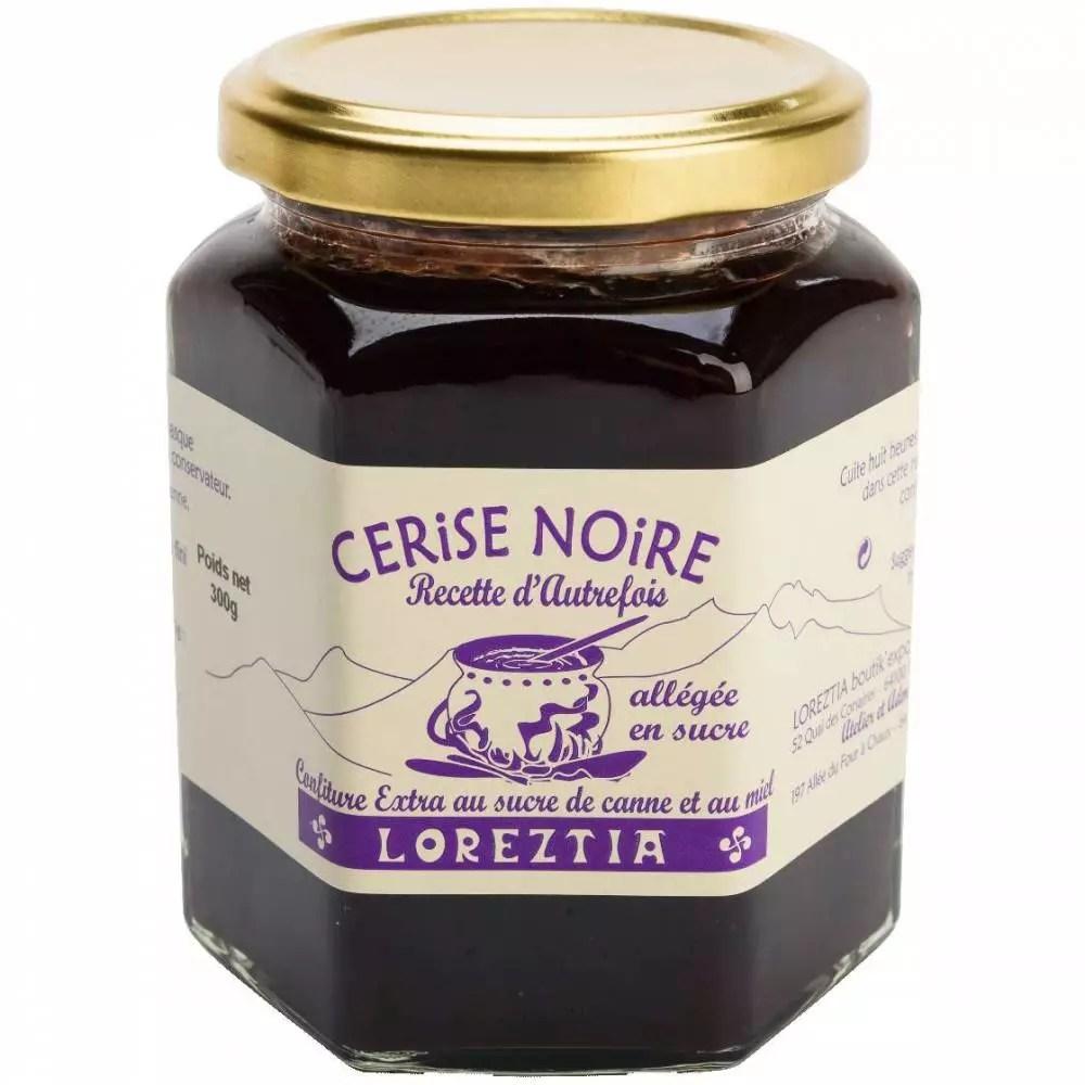 confiture a la cerise noire de la maison loreztia