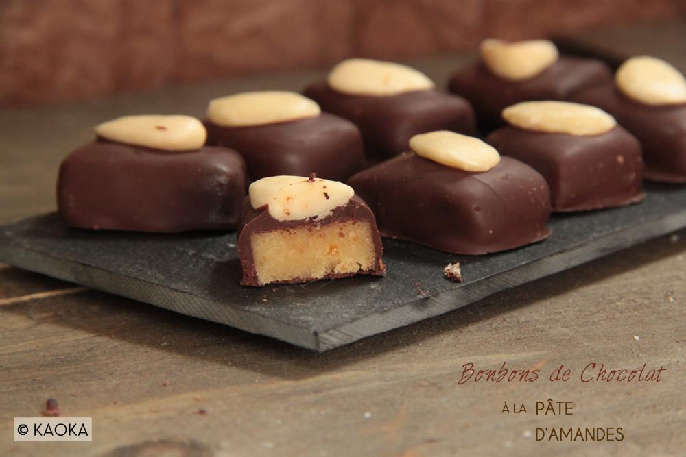bonbons de chocolat a la pate d amande