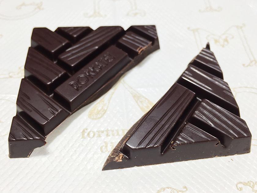 『六花亭』の「ビタスィートチョコレート」枕木がモチーフ