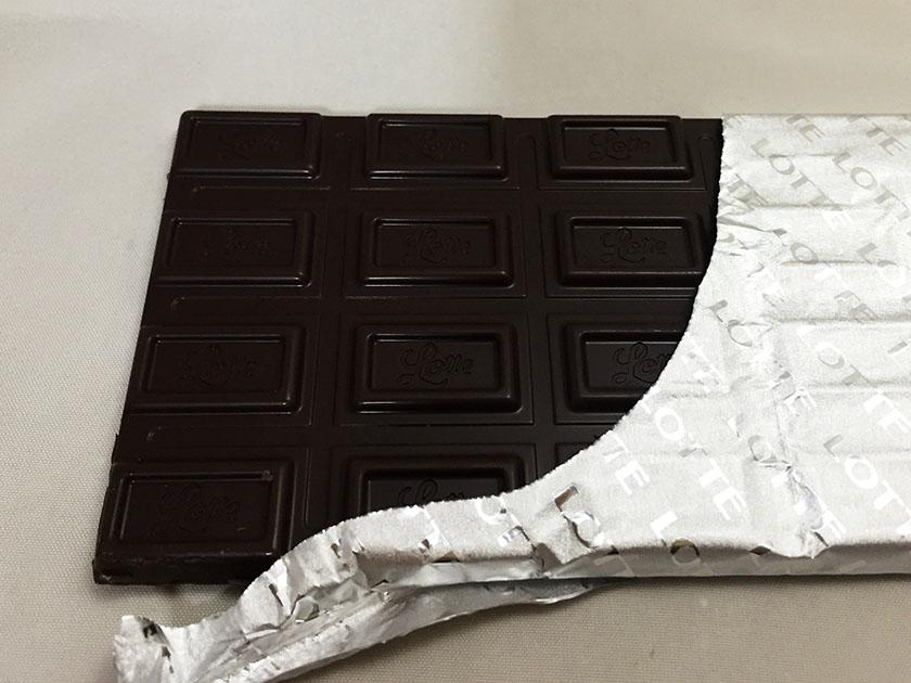 『ロッテ』の「ガーナブラックチョコレート」銀紙入り