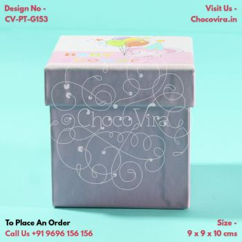 homemade chocolate boxes for baby girl announcement in mumbai