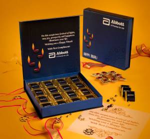 Logo printed chocolates for DIWALI GIFTS FOR CLIENTS