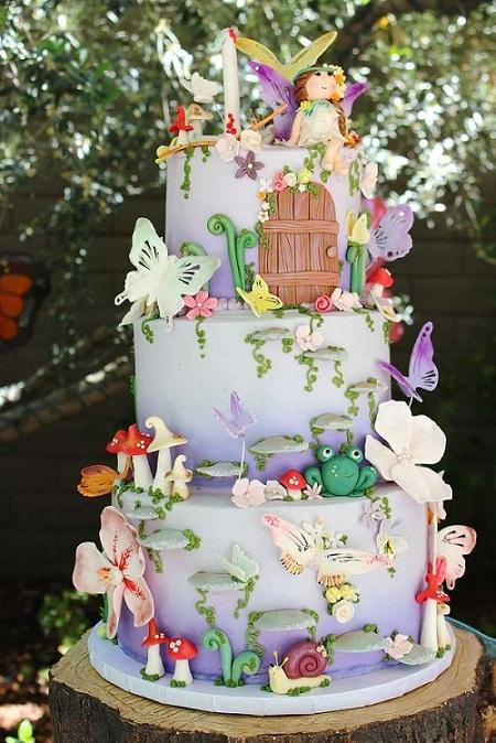 Fairyland Theme Birthday Cake