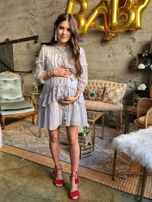 Polka Dot Dress For Baby Shower