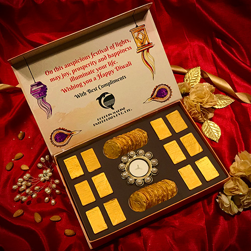 gold coin and gold bar chocolates for diwali gifting