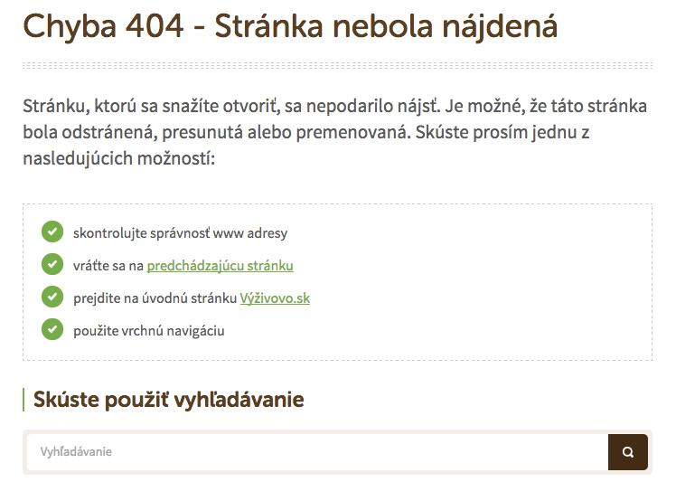 404-ka na Vašom webe