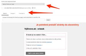 Preklad e-mailov v Mailchimpe