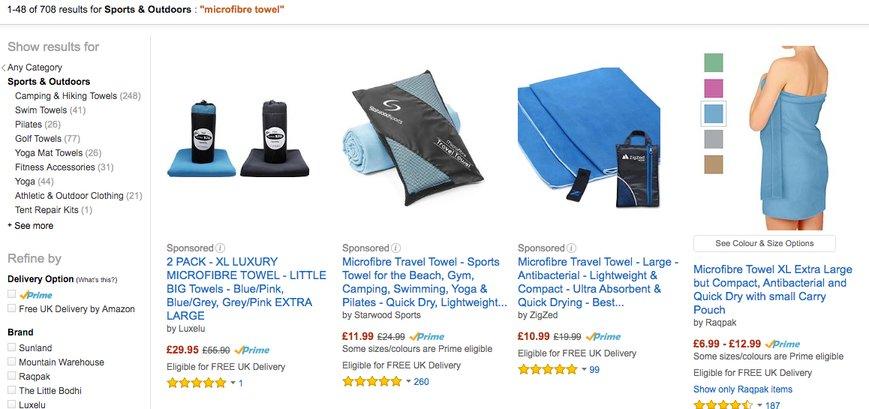 Výber produktu na Amazone