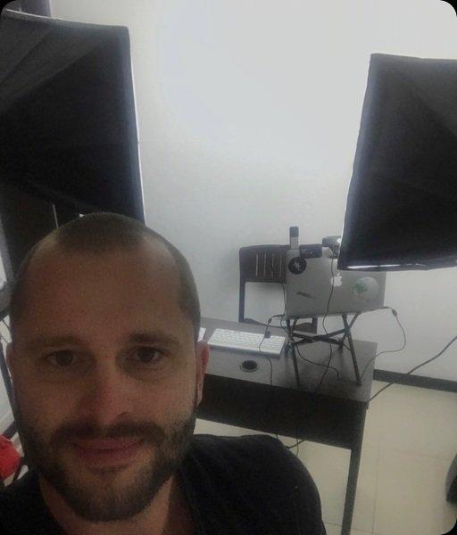 Provizórne štúdio v Kolumbii