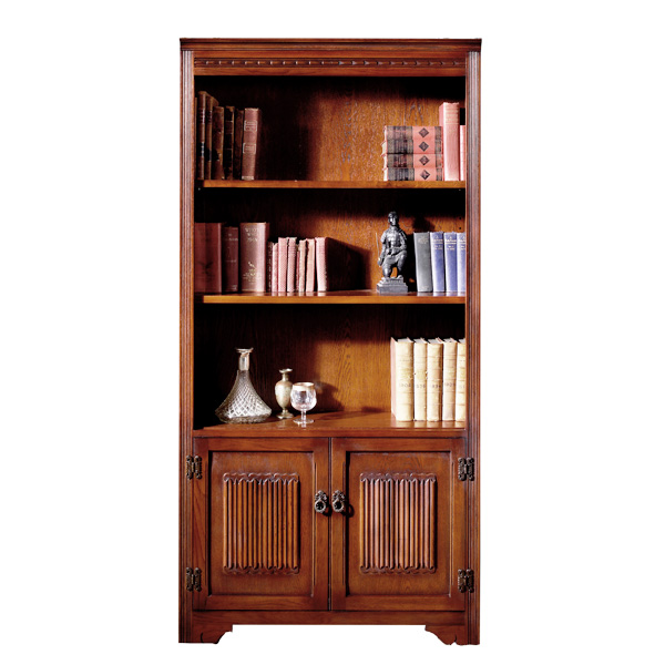 Old Charm Bookcase With Doors Choice Furniture