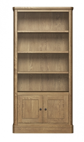 Buy Carlton Copeland Oak Tall Bookcase With Cupboard