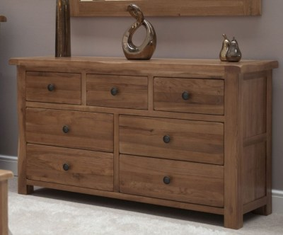 c21a833a3bbc Buy Homestyle Gb Rustic Oak Chest Of Drawer 2 Over 3 Drawer Online ...