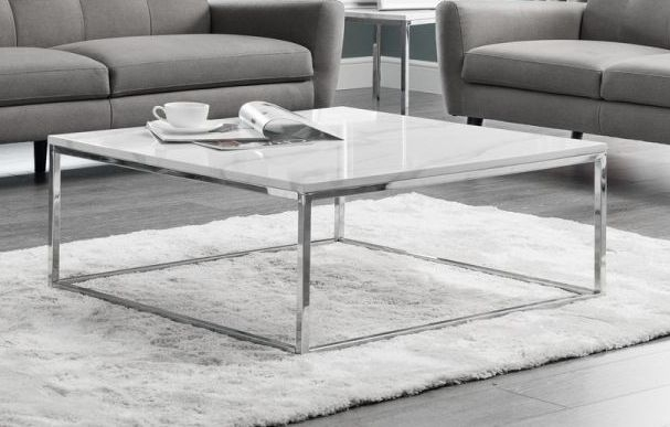 julian bowen scala white marble and chrome square coffee table cfs furniture uk