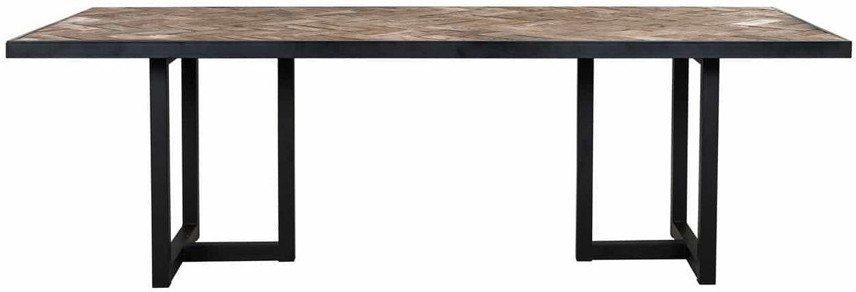 herringbone old oak dining table 240cm cfs furniture uk
