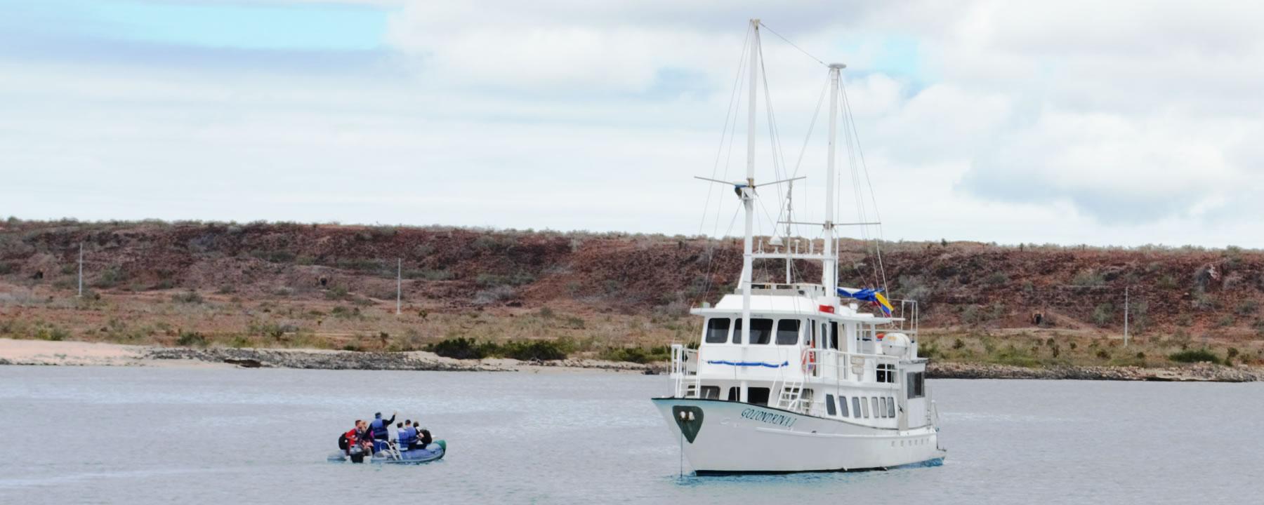 Embarking on Baltra Island