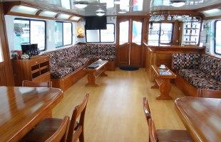 Angelito Yacht dinig room bar and salom