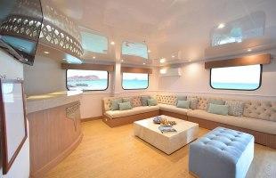 Social area on Seaman Catamaran
