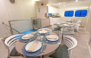 Solaris Yacht dining room