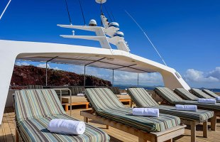 Galapagos cruise deck on Seaman Catamaran