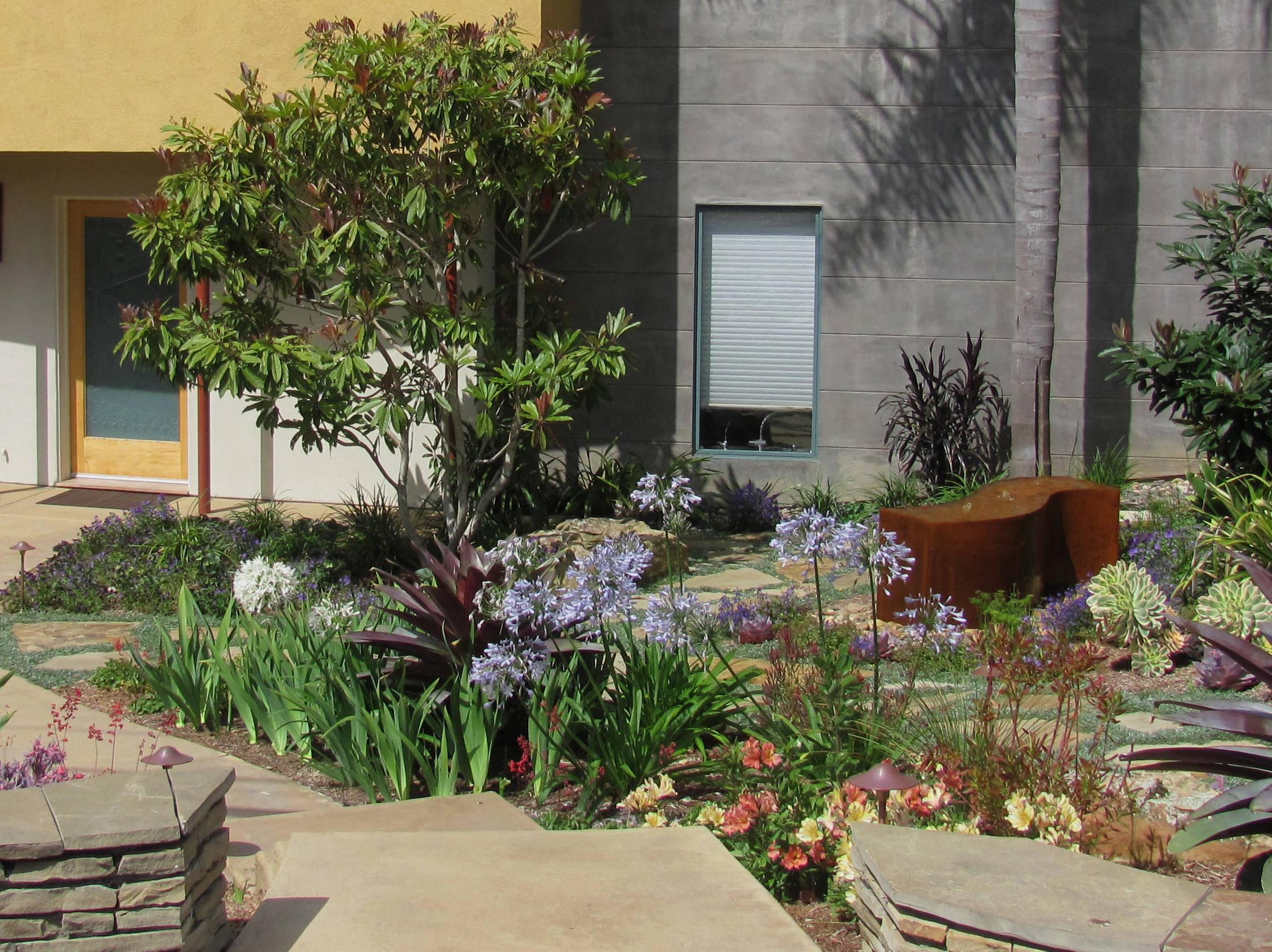 plant-driven low water landscape in Carlsbad : landscape-inside-house - designwebi.com