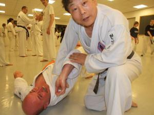 Hankido trainen met meester Ko Baek-yong