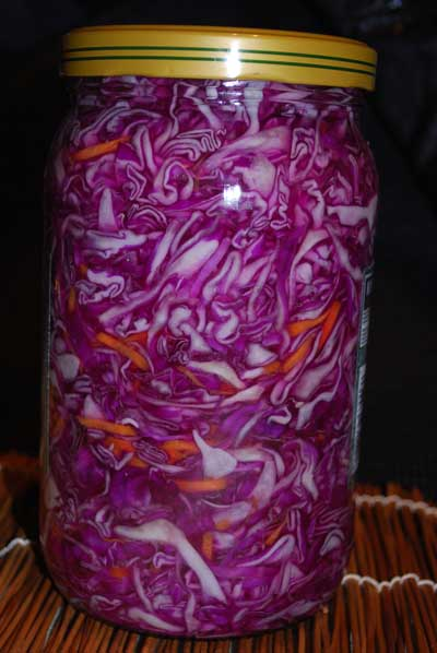 The most delicious pickled red cabbage