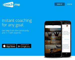 1 Coach.me Home Page