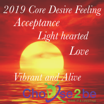 2019 New Year Resolution, Goals, Core Desire Feeling