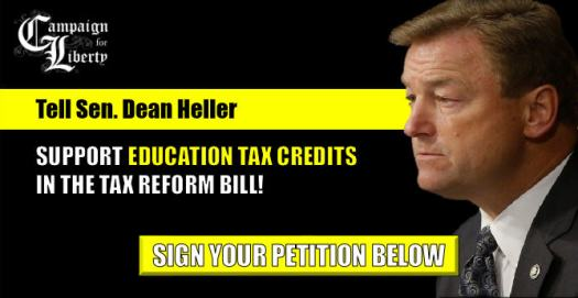 Tell Sen. Heller to support eduction tax credits