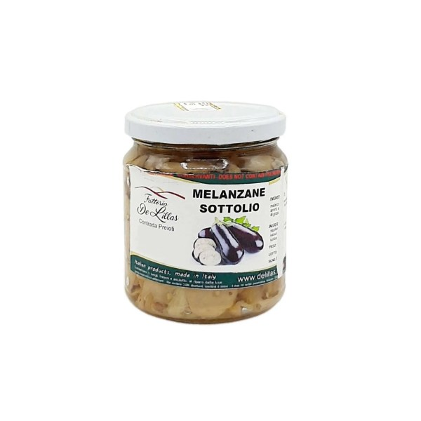 Melanzane sott'olio Piccanti – 250 Gr – Fattoria de Lillas