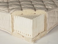 An All Latex Mattress Cutaway