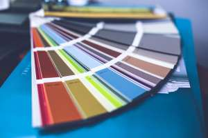 A paint swatch