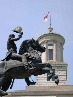 Andrew Jackson statue.