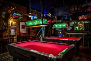Sports Bars in Nashville with a red pool table