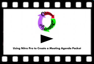 Meeting Agenda Assembly / Distribution Nitro Pro