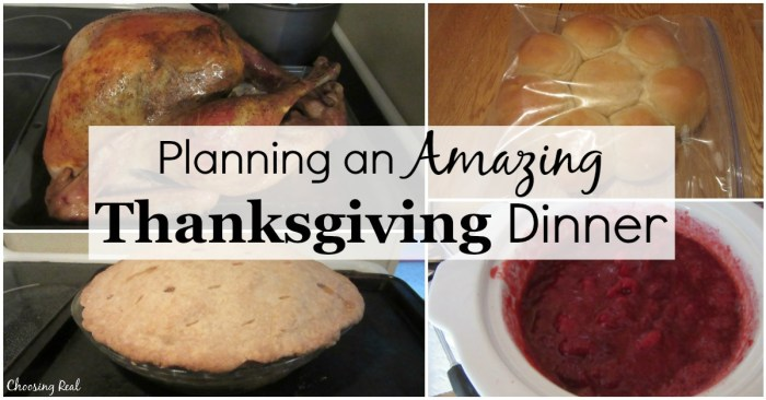 You can save yourself a lot of stress on Thanksgiving Day by planning your Thanksgiving dinner in advance.