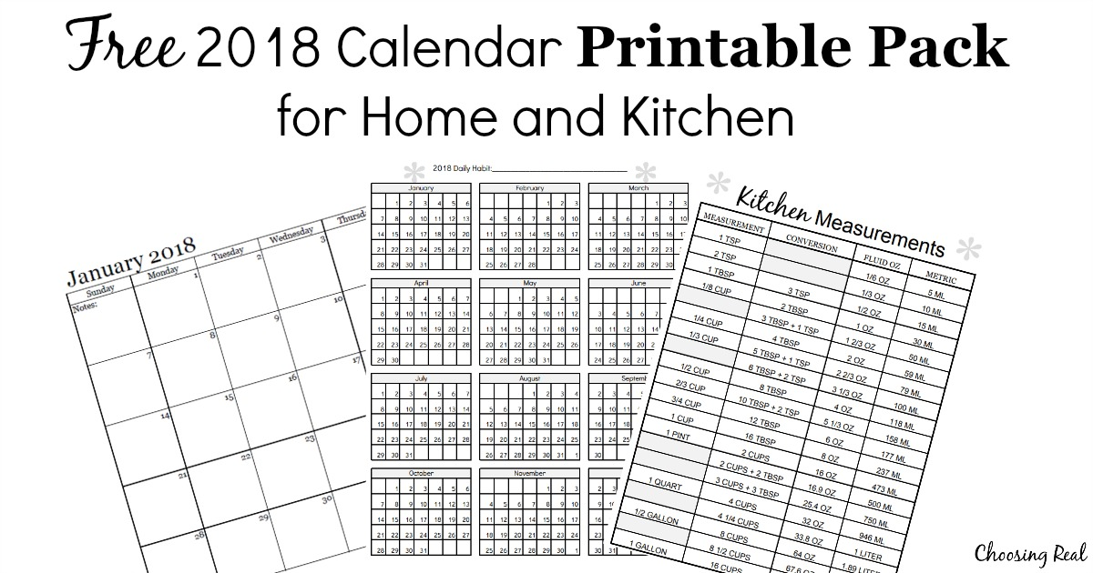 2018 and 2018 calendar printable