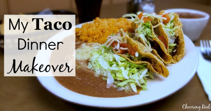 Over time I have modified our typical dinner to be much healthier with this homemade taco dinner makeover to reduce sodium.