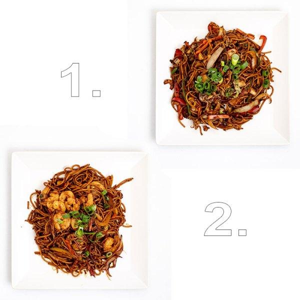 Tengeri herkentyűk thai wok extra tésztával (tenger gyümölcsei, rák) - 2 személyes