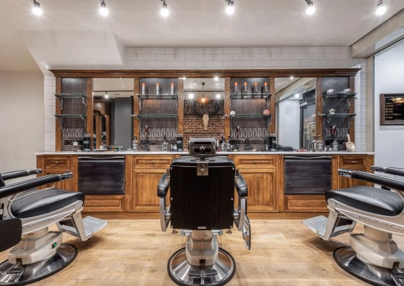 The interior of Chopper Barbers