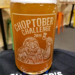 choptober commemorative glass