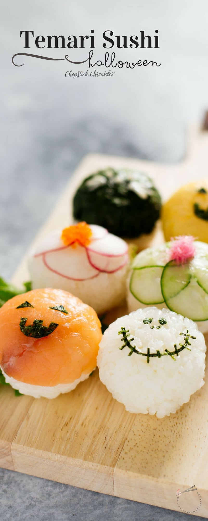 Halloween Temari Sushi for pinterest long pin